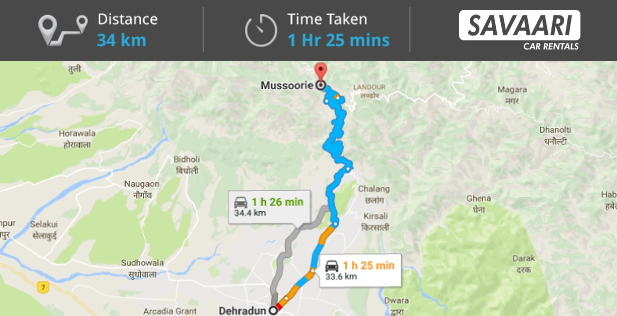 Dehradun to Mussoorie by Road